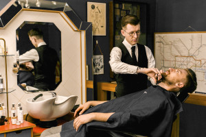 Barber shop and luxury hotel father's day package