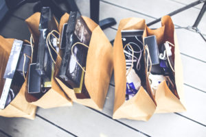 Shopping bags January Sales