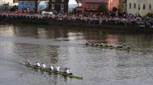 The Boat Race with Spectators
