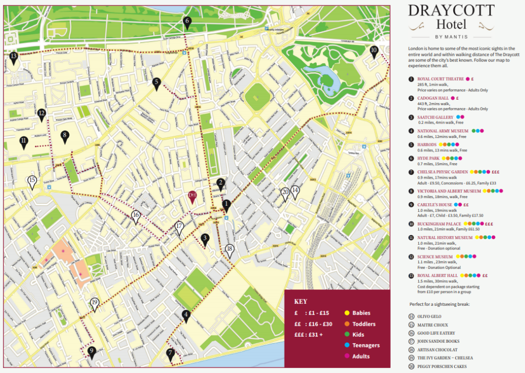 Sightseeing Map Of London.Spring Sightseeing Guide Things To Do In London Draycott Hotel